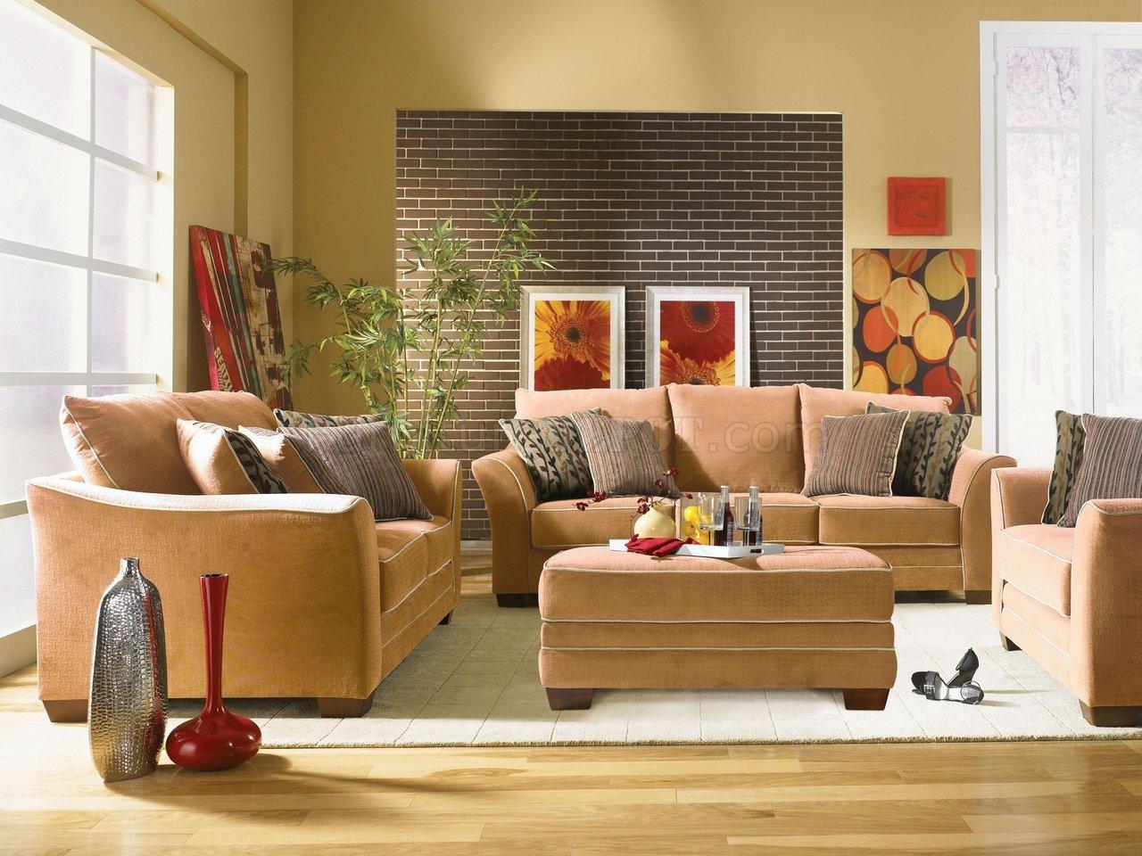 Desert Fabric Transitional Living Room Opulence U203