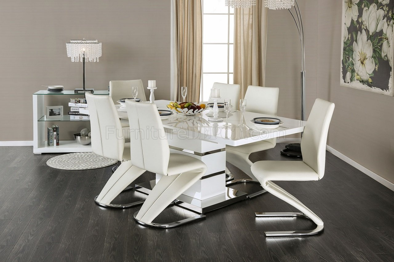Midvale CM3650T Dining Table In White Finish W/Options