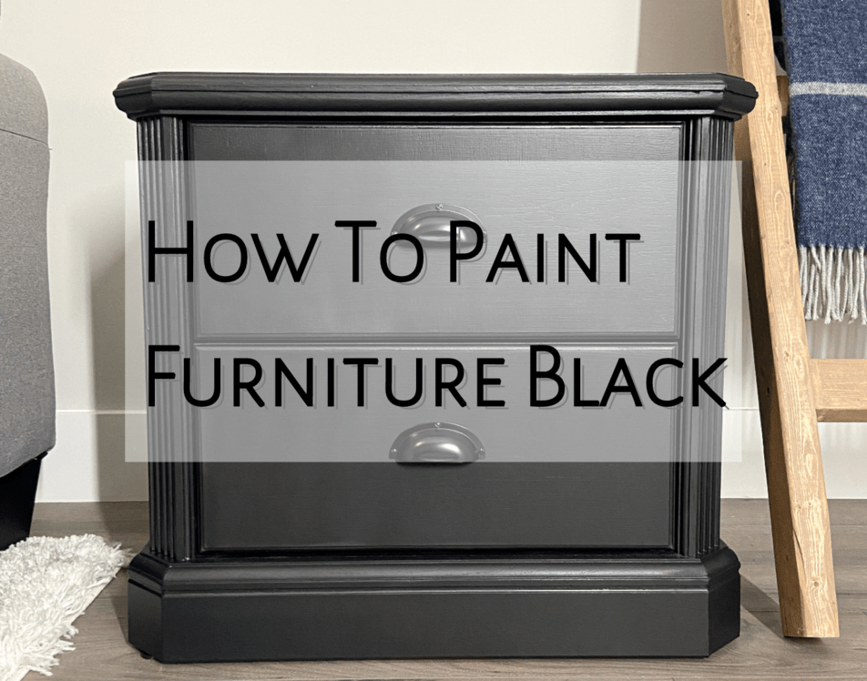 How To Paint Furniture Black Ultimate, How To Paint Over Black Wood Furniture