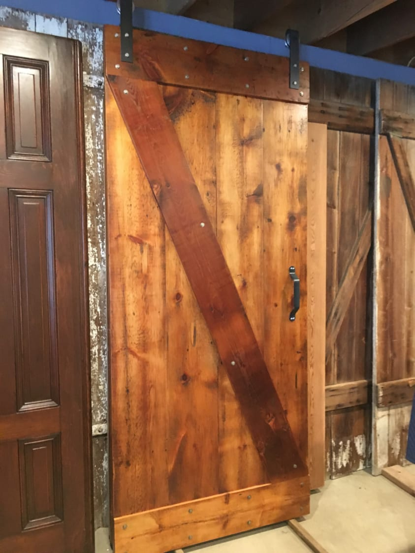Rustic Z Barn Door Made In Reclaimed Pine Furniture From