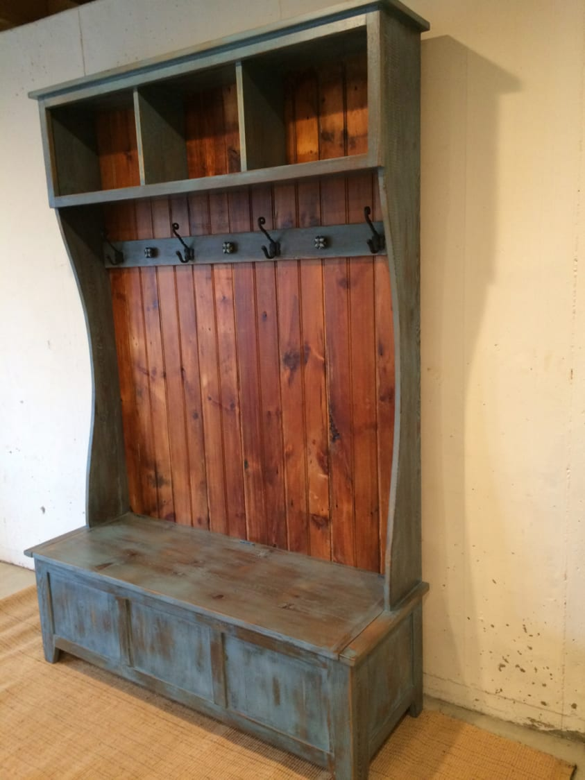 Hall Tree With Open Cubbies At Top Furniture From The Barn