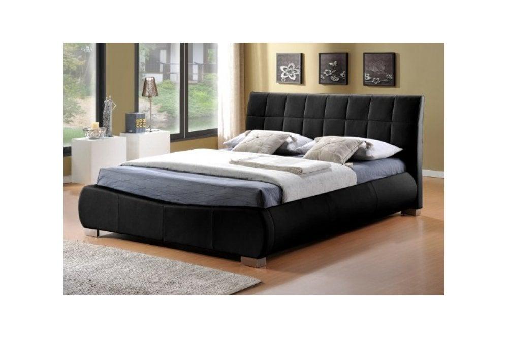 limelight beds limelight dorado 6ft super kingsize black faux leather bed frame