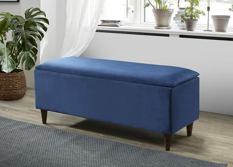 emma storage ottoman blue furniture