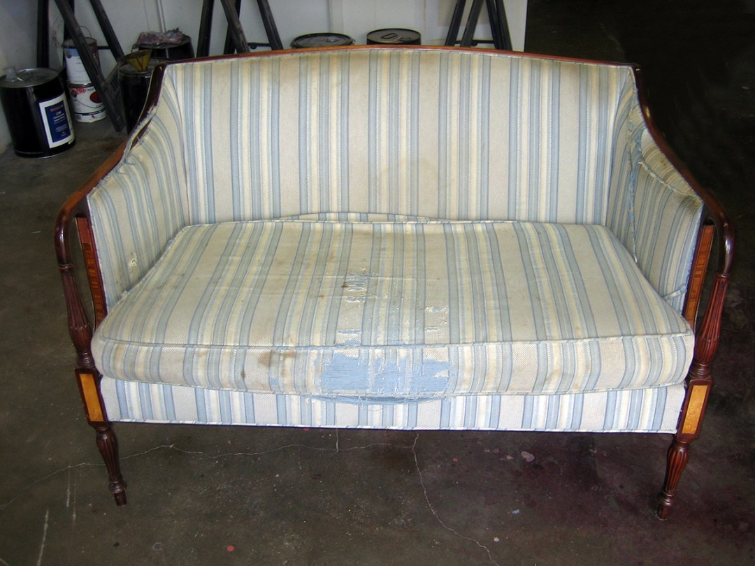 beige sofa-before