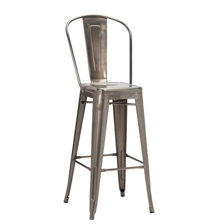 french bistro high chair finished in gunmetal