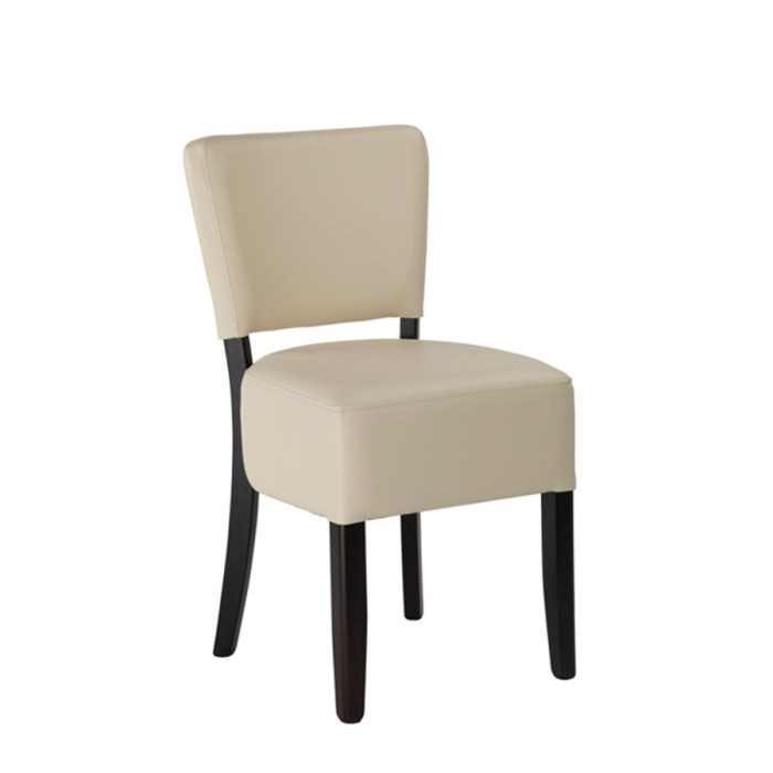 Alto Side chair with a Ivory upholstery and a Wenge Frame