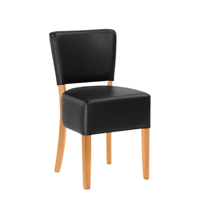 Alto Side chair with a Black upholstery and a Light Beech Frame