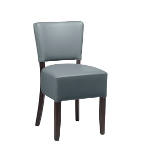 Alto Contract furniture side chair with Iron grey upholstery and a black frame