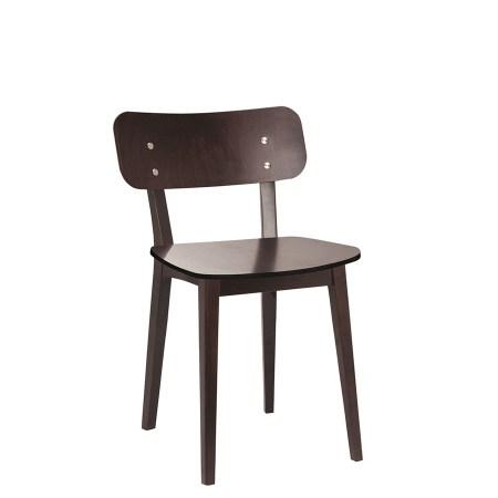 Bartlett side chair finished in Walnut