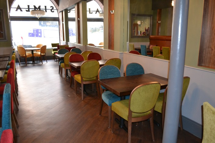 Simla restaurant refurbishment interior Newcastle