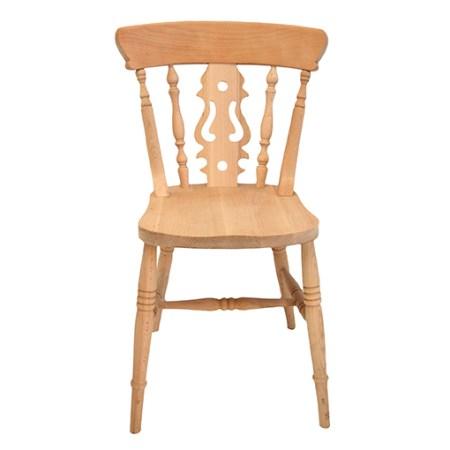 farmhouse fiddle back side chair