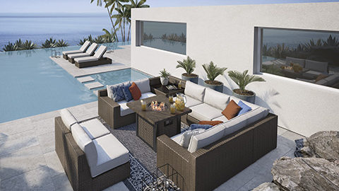 ashley furniture alta grande p782 outdoor patio furniture seating collection