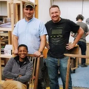 Group woodwork lessons at the London School of Furniture Making