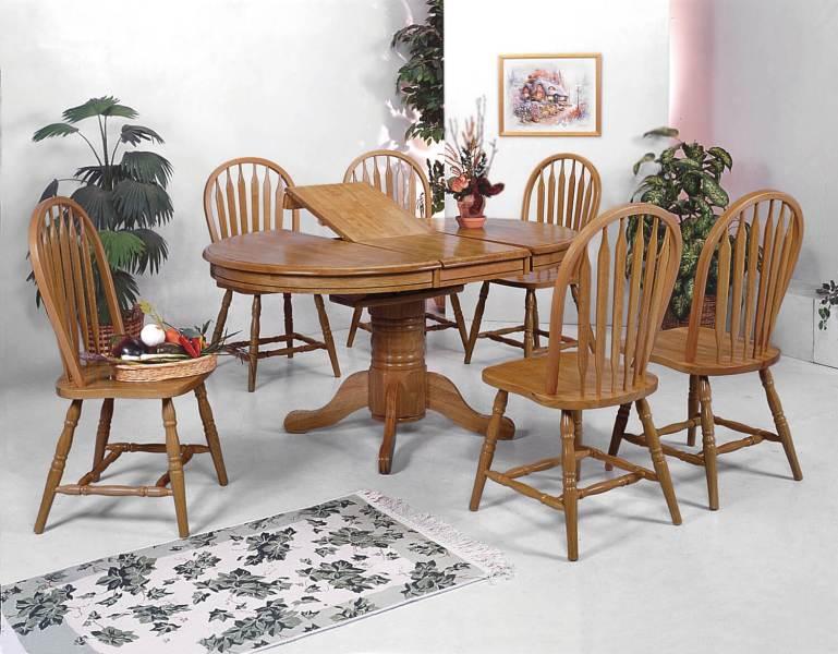 Crown Mark Dark Oak Dining Room Set   Dining Room Sets 1052 Crown Mark Dark Oak Dining Room Set