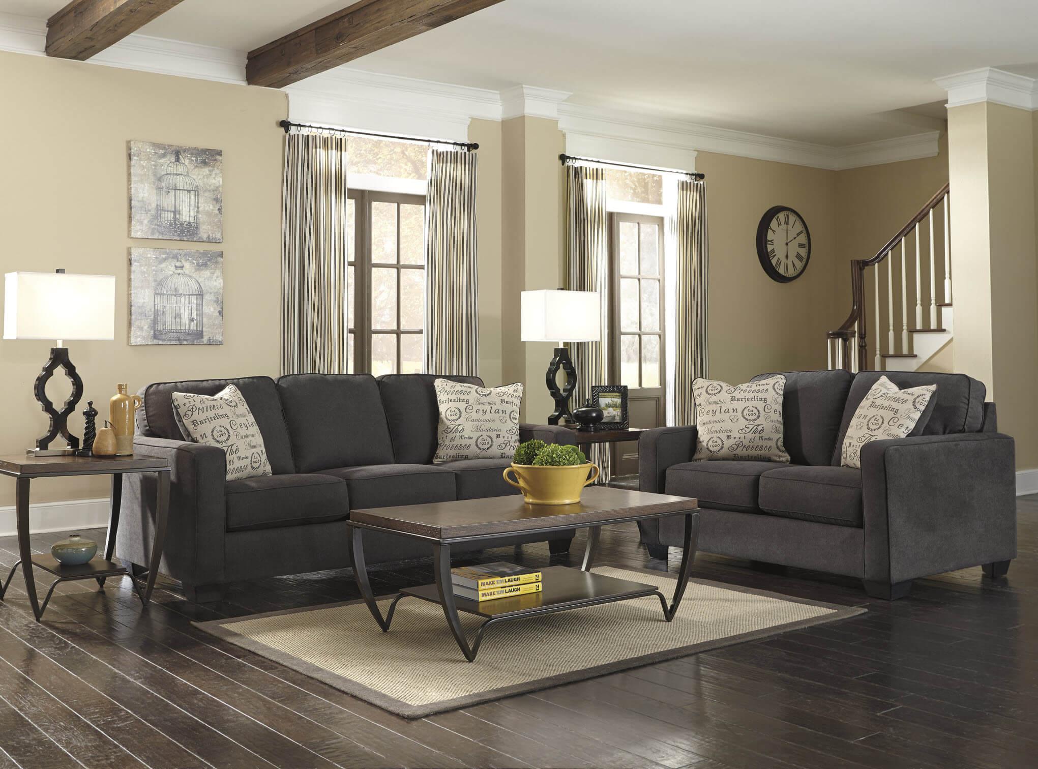 Charcoal Sofa Set Hugo 3 2 Seater Ter Charcoal Fabric