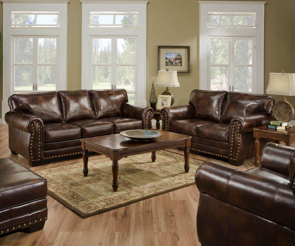 Encore Vintage Nail Head Sofa And Loveseat Living Room Sets