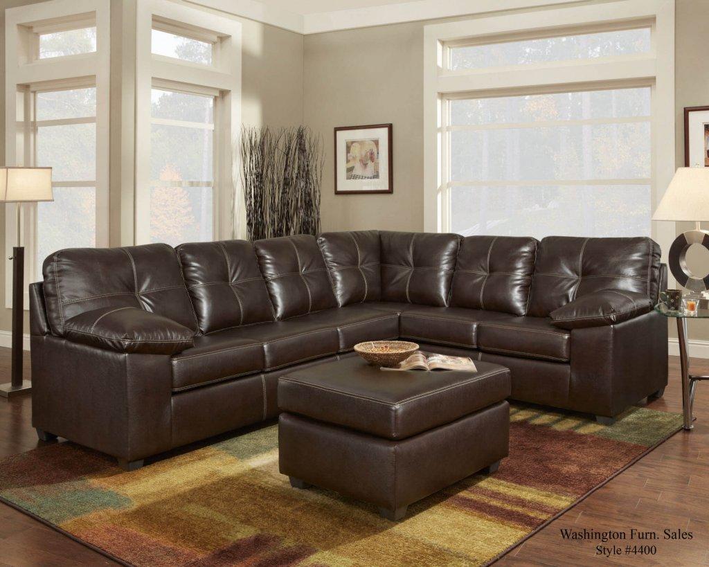 Washington Ty Chocolate Sectional Sectional Sofa Sets