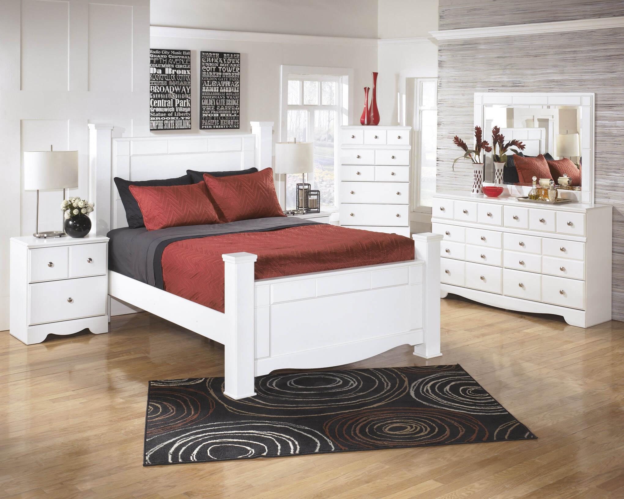 lovely ashley white bedroom furniture