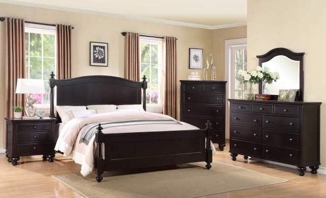 Sommer Black Bedroom Set