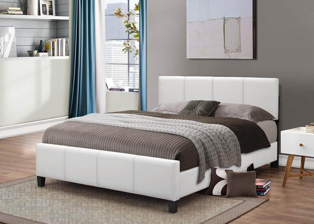 White Platform Style Bed Kid S Beds