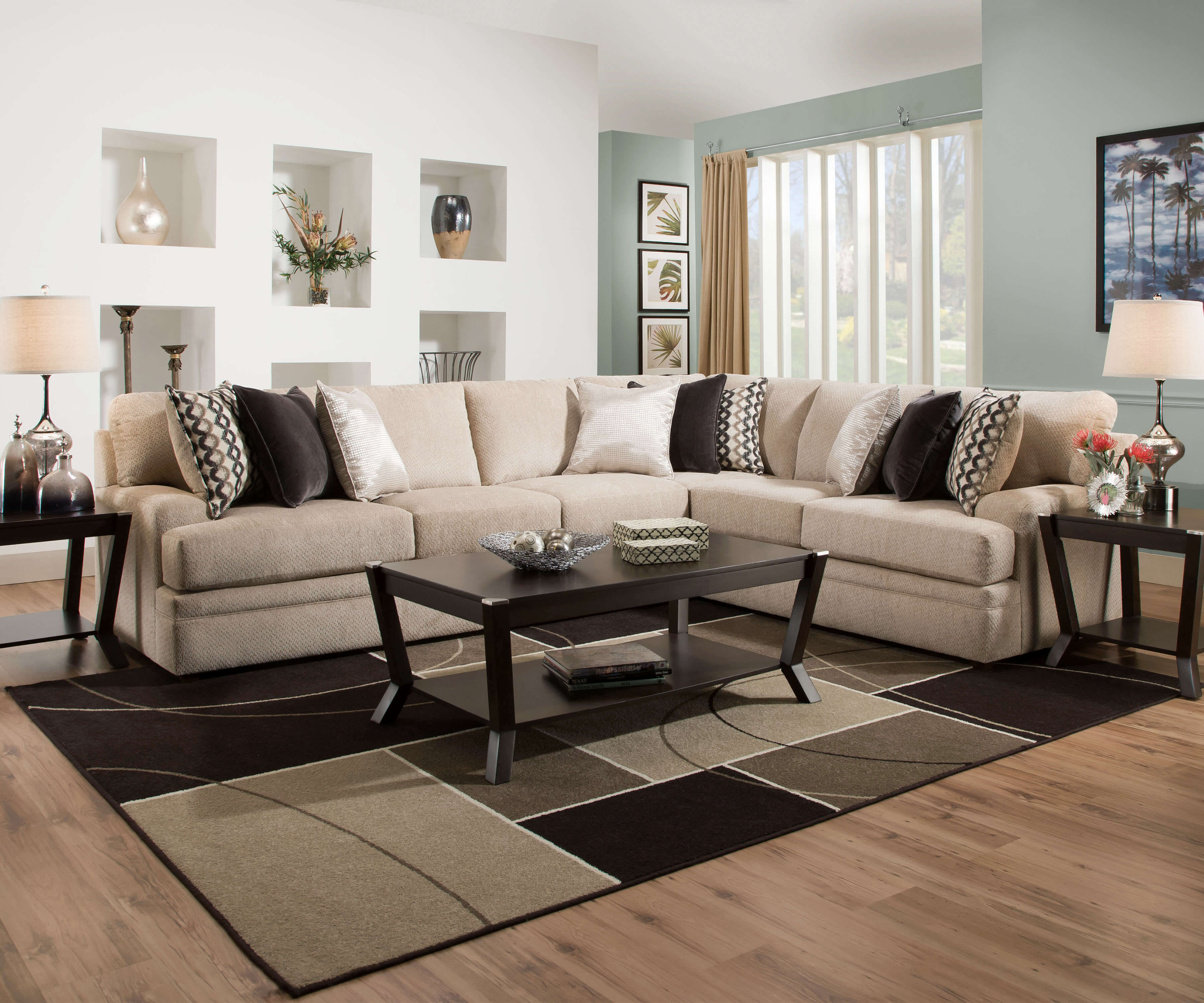 Bellamy Putty Sectional By Simmons Sectional Sofa Sets