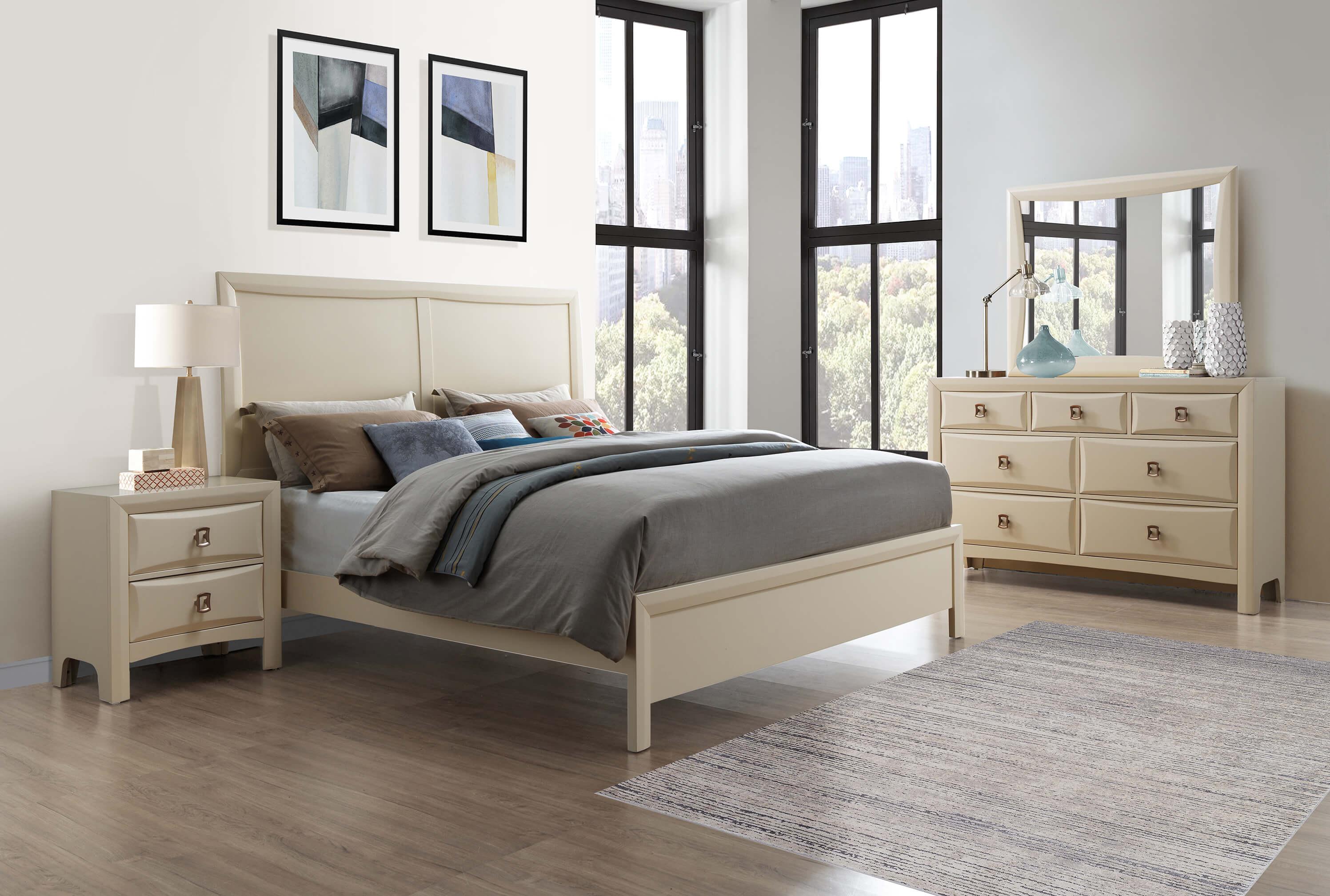 Lucas Almond Bedroom Set Urban Furniture Outlet