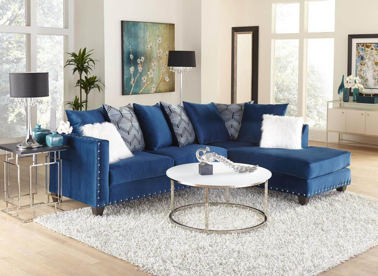 Melon Sapphire Sectional Living Room Furniture
