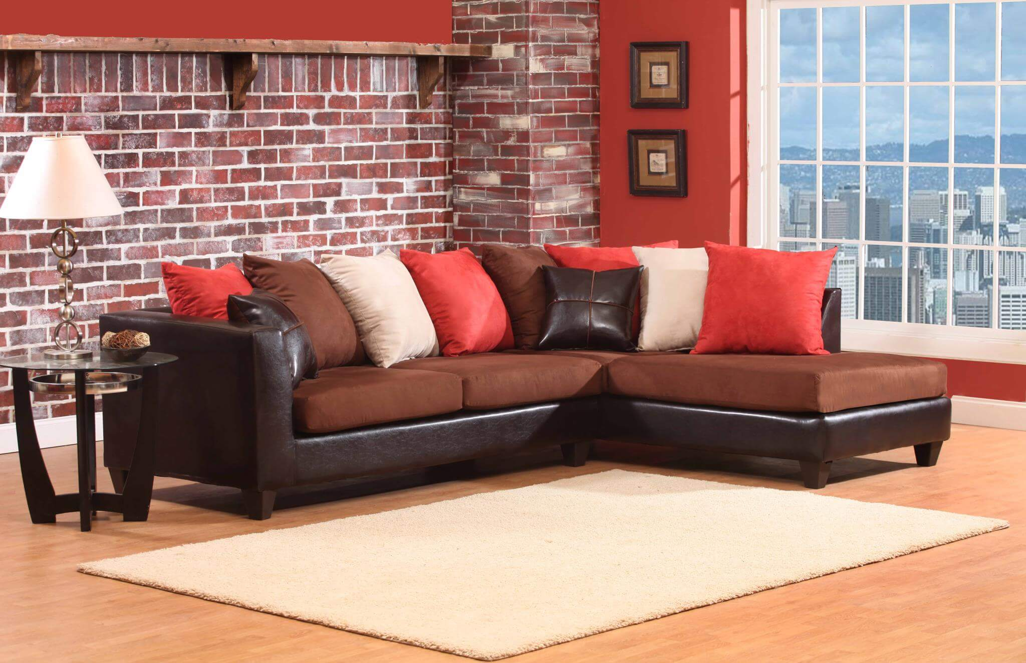 Jefferson Chocolate Sectional Urban Furniture Outlet