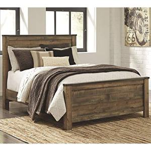 Ashley Furniture Trinell Queen Panel Bed in Brown