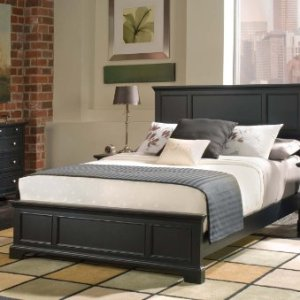 Home Styles Bedford Queen Bed Headboard, Footboard, Rails and Matching Wood