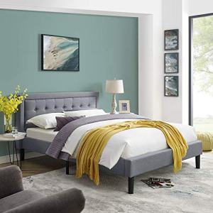Classic Brands Mornington Upholstered Platform Bed | Headboard and Metal Frame