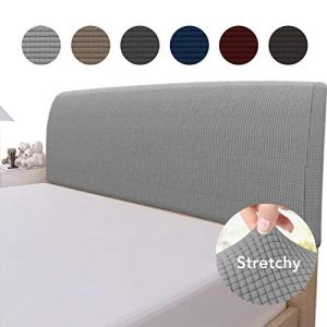 Easy-Going Stretch Bed Headboard Slipcover,Small Square Jacquard Bed Head Cover