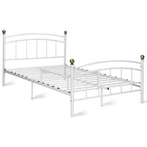 Giantex Metal Bed Frame Metal Platform Slat Support with Headboard