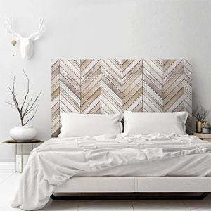 AMAZING WALL 3D Arrow Wood Grain Headboard Sticker Bedroom Self Adhesive