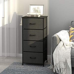 WLIVE Dresser with 4 Drawers, Fabric Storage Tower, Organizer Unit for Bedroom