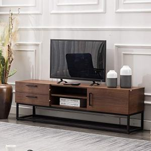 "CANMOV TV Stand 59""for Living Room Entertainment Room, Mid-Century Furniture,Brown"