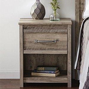Ameriwood Home Bassinger Nightstand, Gray Oak