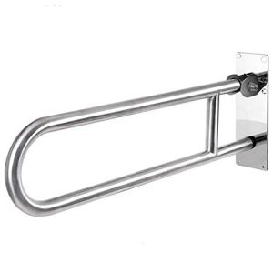 Toilet Grab Bar, Flip-Up 24-Inch Safety Bathroom Rail Heavy Duty Screw-in Assist Handles for ADA Bathroom