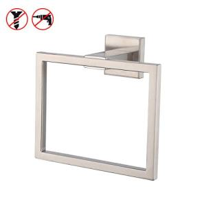 KES Bath Towel Ring Towel Hanger SUS 304 Stainless Steel Bathroom Accessories Contemporary Hotel Square Style Wall Mount, Brushed Finish, A2480-2