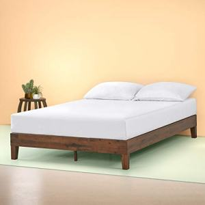 Zinus OLB-PWPBBE-12Q Marissa 12 Inch Deluxe Wood Platform Bed / No Box Spring Needed / Wood Slat Support / Antique Espresso Finish, Queen