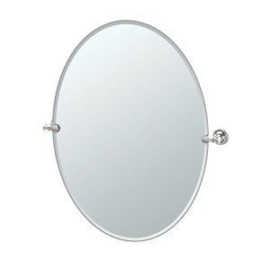 Gatco 4129LG Tavern Large Oval Mirror, Polished Nickel