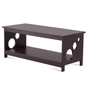 TAOHFE Coffee Table for Living Room Modern Dark Brown Rectangle Cocktail Furniture Easy Assembly Centerpiece, Anti-Scratch Wood Surface Side, End, Center Tables for Home, Apartment