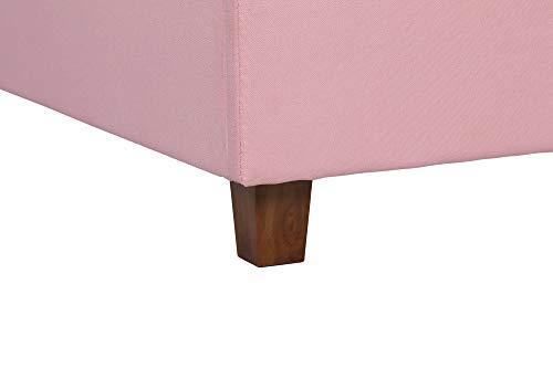 DHP Melita Linen Upholstered Platform Bed Frame Guarantee: 1 yr restricted guarantee.