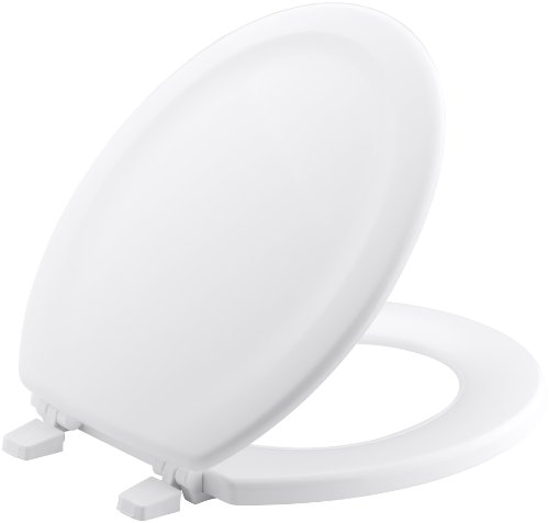 KOHLER K-4816-0 Stonewood with Quick-Release Hinges Round-front Toilet Seat in White