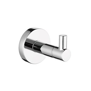 Paladinz Chrome Stainless Steel Towel Hook Robe Hook Coat Hook Single Hook for Bathroom and Kitchen Garage Heavy Duty Modern Style Wall Mounted 20 Years Warranty