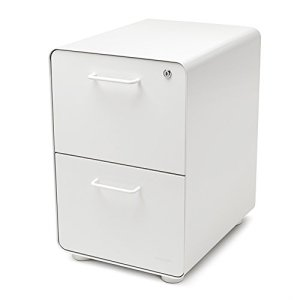 Poppin White Stow 2-Drawer File Cabinet, Metal, Legal/Letter