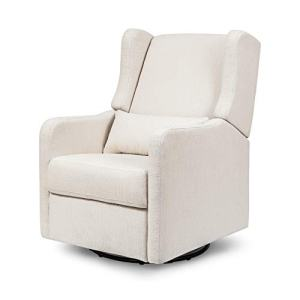 Carter's by Davinci Arlo Recliner and Swivel Glider in Cream Linen, Water Repellent, Stain Resistant Fabric, Greenguard Gold Certified