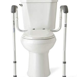 Medline Toilet Safety Rails, Safety Frame for Toilet with Easy Installation, Height Adjustable Legs, Bathroom Safety