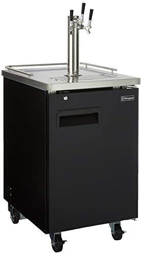 Kegco HBK1XB-3 3-Faucet Commercial Kegerator Keg Beer Dispenser - Black