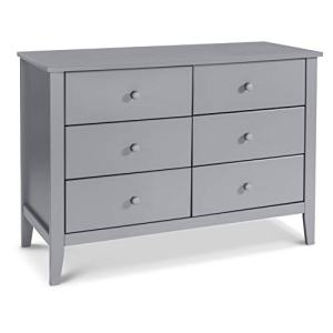 Carter's by DaVinci Morgan 6-Drawer Double Dresser, Grey